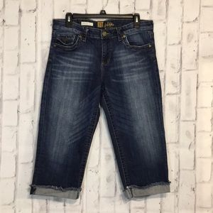 Kut from the Kloth Natalie Cropped Jeans Size 10